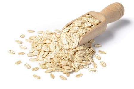 oatmeal on the white background Stok Fotoğraf