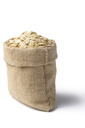 oatmeal on the white background photo