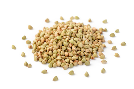 buckwheat on the white background Stok Fotoğraf