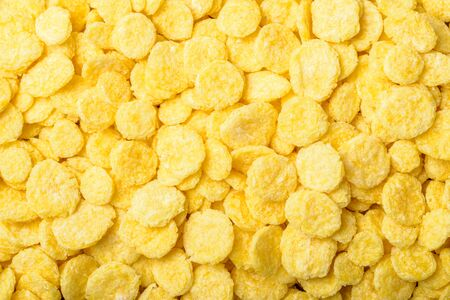 cornflakes: food background of cornflakes