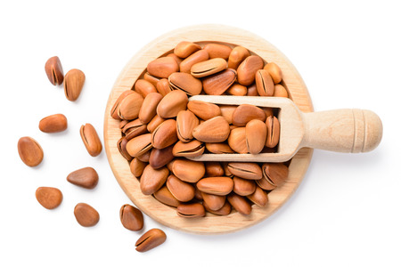 pine nuts: pine nuts Stock Photo