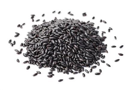 black rice: black rice on the white background