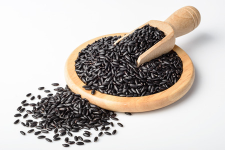 black rice: black rice Stock Photo