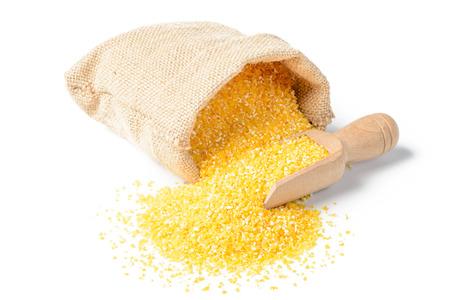 uncooked polenta in the sack