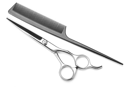 scissors comb: hairdressing Stock Photo