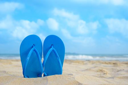 flipflops: flipflops on the summer beach
