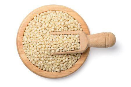bicolor: sorghum on white, tilt shift lens Stock Photo