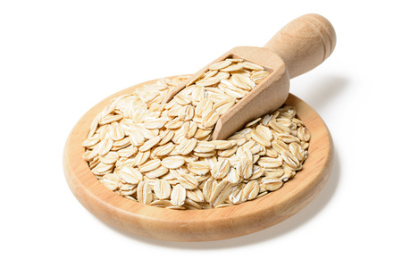 tilt and shift: uncooked oatmeal in the plate, (large depth of field, taken with tilt shift lens)