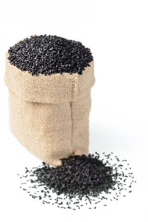 black sesame: black sesame in the sack, (large depth of field, taken with tilt shift lens)