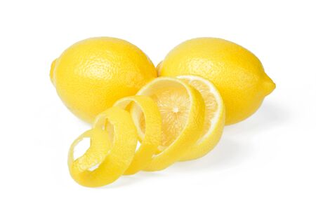 fresh lemon and lemon peel Stok Fotoğraf
