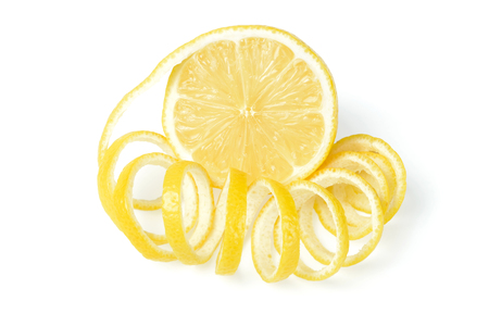 lemon: fresh lemon and lemon peel Stock Photo