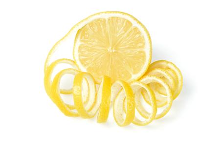fresh lemon and lemon peel Stok Fotoğraf - 44557459