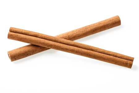 cinnamon stick on white
