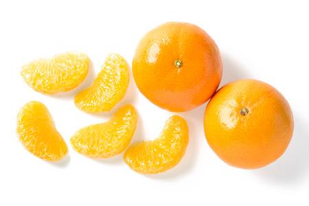 segmento: orange segment on white Foto de archivo