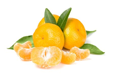 segments: oranges and segments on white