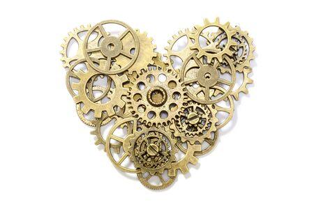 heart gear: gear heart on white