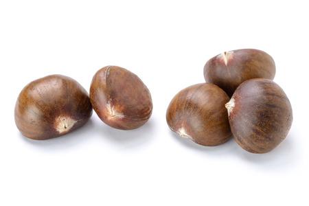 tilt: chestnuts on white, (large depth of field, taken with tilt shift lens)