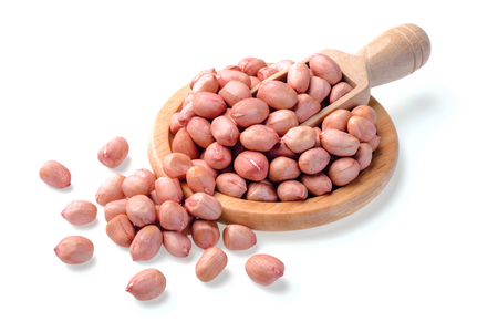 pink peanuts on white Stock Photo