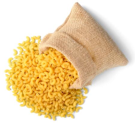 macaroni pasta in sack