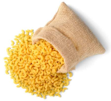 macaroni pasta in sack