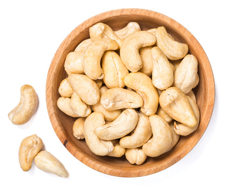 cashew nuts on white