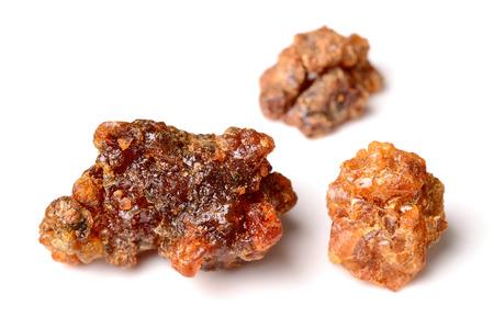 brown Myrrh isolated on white