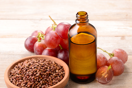 Cold Pressed Grape seed Oil Foto de archivo