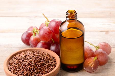 Cold Pressed Grape seed Oil Stockfoto