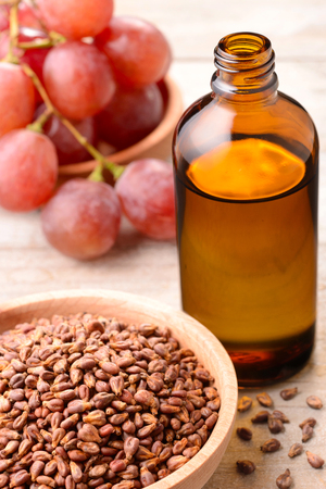 Cold Pressed Grape seed Oil Banco de Imagens