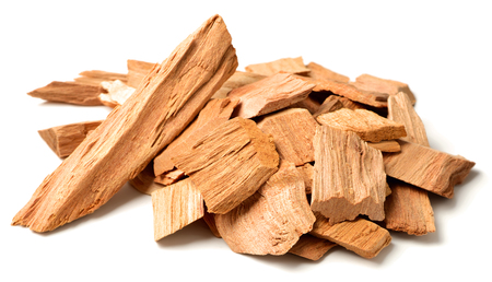 close up of sandalwood isolatd on the white background Banque d'images