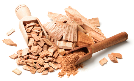close up of sandalwood isolatd on the white background Фото со стока