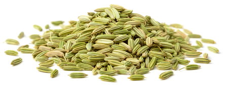 dried fennel seeds isolated on white Foto de archivo