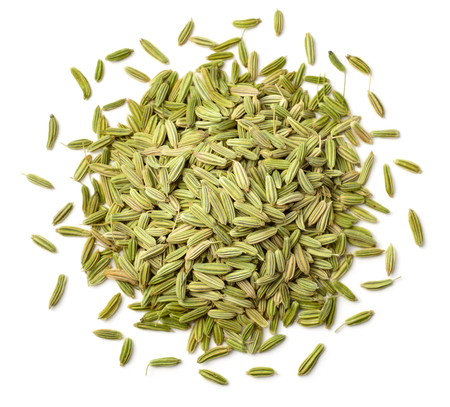 dried fennel seeds isolated on white Standard-Bild
