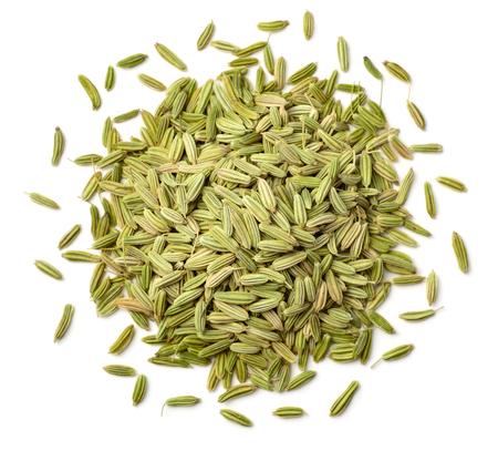 suszone nasiona kopru włoskiego na białym tle Zdjęcie Seryjne