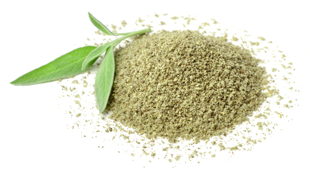 rubbed sage isolated on white Stock Photo