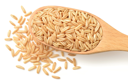 raw oats isolated on the white backgrounds Standard-Bild
