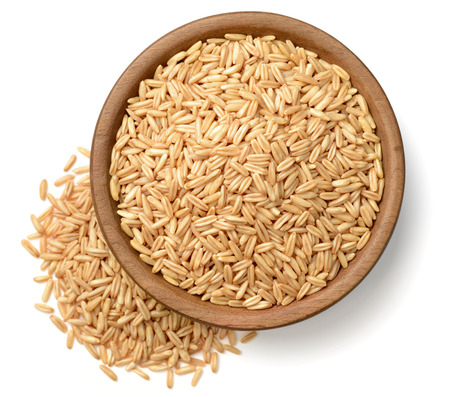 raw oats isolated on the white background
