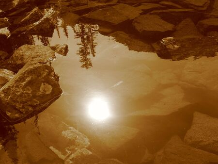Natures Reflection Stock Photo