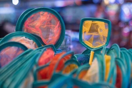 Colorful of Fish scoop sold in Thailand market 写真素材