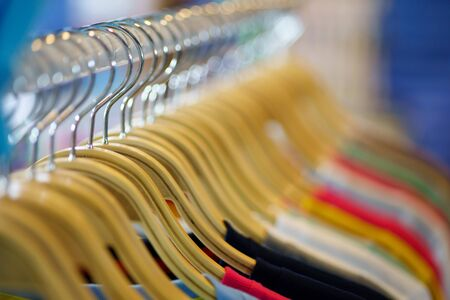 beautiful abstract blurred Clothes hanger with bokeh light