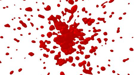 splashes of red ink or blood 3d render Фото со стока