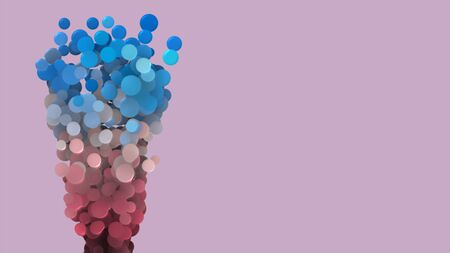 colorful bubbles on pink background 3d render Stock fotó