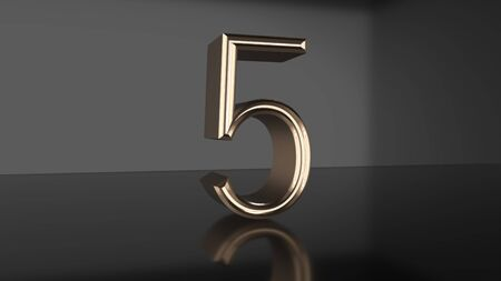 Golden number Countdown from ten to zero 3d render Stock fotó
