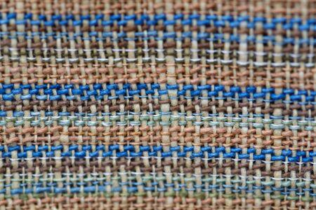 Close up thread linen fabric background texture