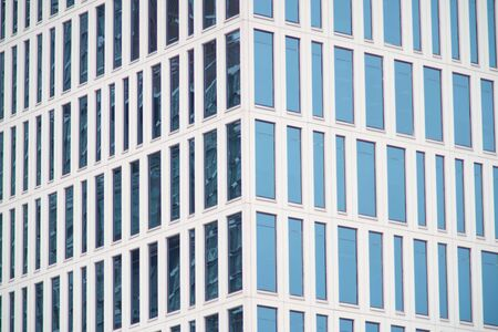 abstract Modern glass building, Business Office Glass Windows Building