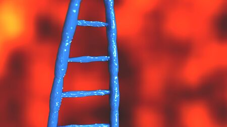 Blue DNA molecules Abstract technology science concept of biochemistry animation 3D rendering Banque d'images - 131341608