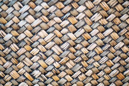 Artisanat traditionnel nature motif de tissage de bambou texture de fond de style thaïlandais