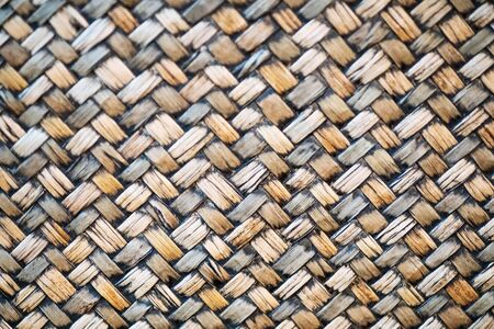 Traditional handcraft nature Bamboo weave pattern Thai style background texture