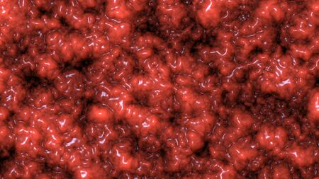 Texture of brain tissue, Organic surface and Blood vessels, animation 3D rendering