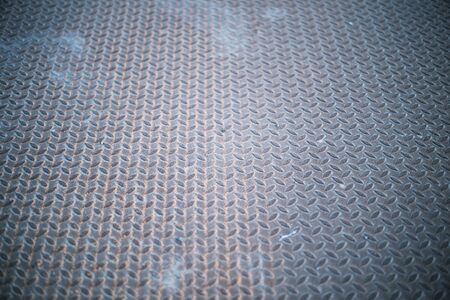 Background texture Of Old Metal Diamond Plate With Rusty Stok Fotoğraf